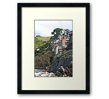 Cinque Terre Homes Framed Print