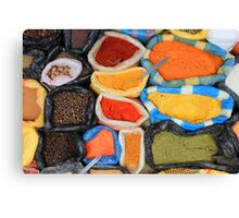 Colorful Spices at the Market Canvas Print