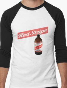 Red Stripe  Men's Baseball ¾ T-Shirt