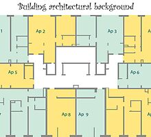 Building architectural background by Laschon Robert Paul