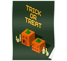 Trick or Treat! Square pumpkins. Poster
