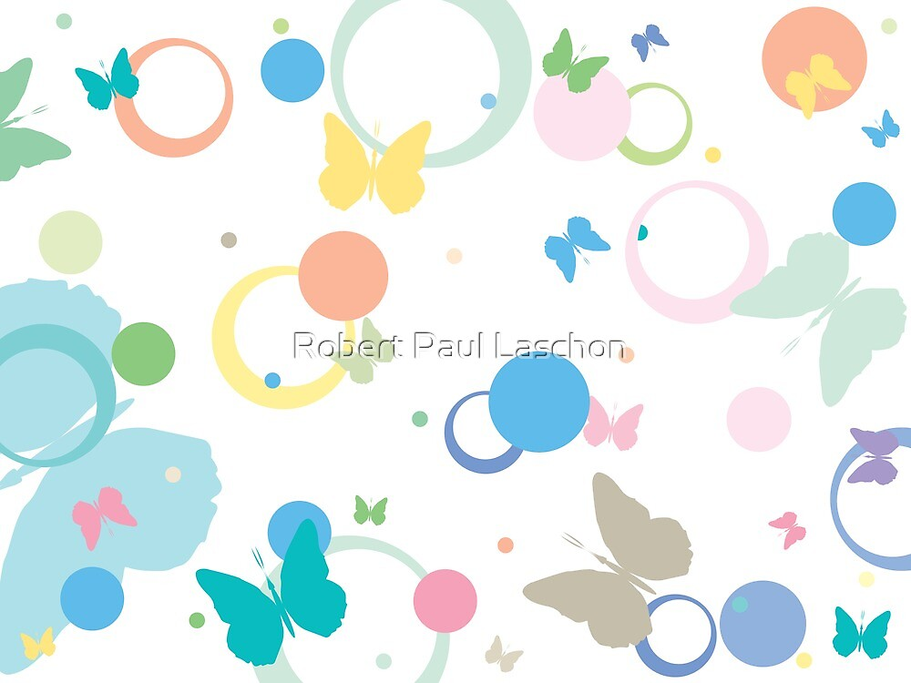 Butterflies and bubbles by Laschon Robert Paul