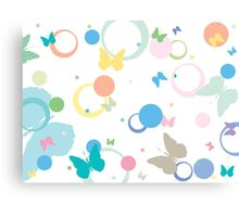 Butterflies and bubbles Canvas Print