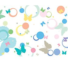 Butterflies and bubbles Photographic Print