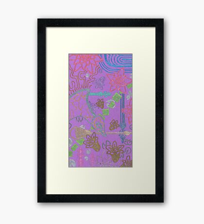 new york city tangle with horn Framed Print