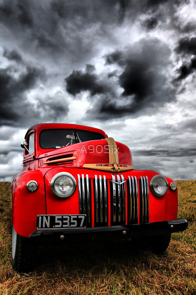Red Ford Truck by A90Six