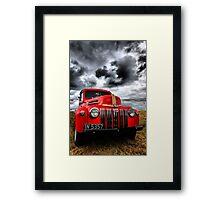 Red Ford Truck Framed Print