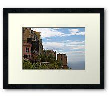 Cinque Terre Landscape Framed Print