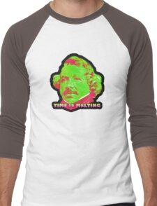 Time Is Melting Men's Baseball ¾ T-Shirt