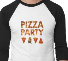 Pizza Party with Cats! Men's Baseball ¾ T-Shirt