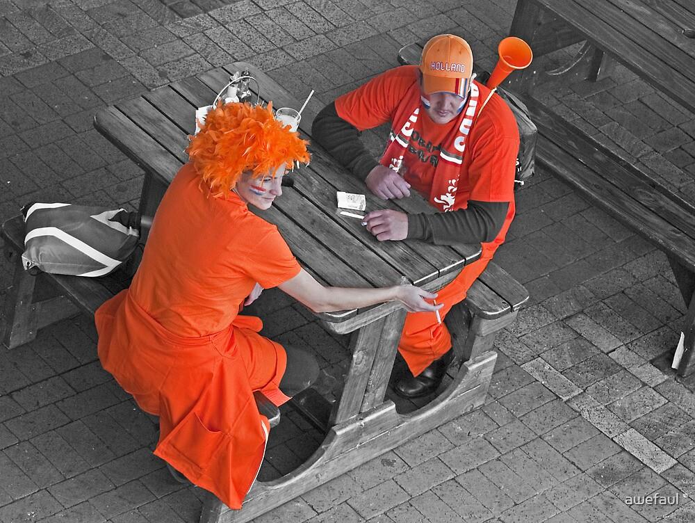 Orange fans by awefaul