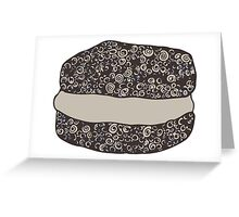 Grayscale Macaroon Doodle Greeting Card