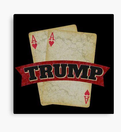 America's TRUMP Card - 2016 Elections - Vote for Donald Trump - Trump for President Canvas Print