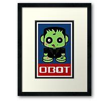 Zombie Franko'bot 1.1 Framed Print