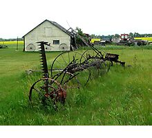 OLD FARM EQUIPMENT Photographic Print