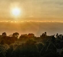 Sunset from Abbey Fields, Kenilworth by stefoncox