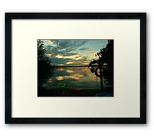 OPALESCENT COLORS ON THE LAKE Framed Print