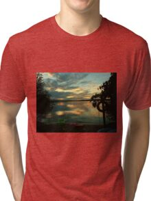 OPALESCENT COLORS ON THE LAKE Tri-blend T-Shirt