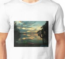 OPALESCENT COLORS ON THE LAKE Unisex T-Shirt