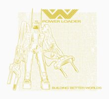 Powerloader Blueprint (yellow) Kids Tee
