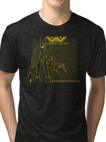 Powerloader Blueprint (yellow) Tri-blend T-Shirt