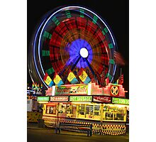 Carnival Bench Photographic Print