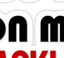 on the blacklist Sticker