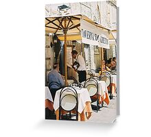 Jewish & Kosher Italy, restaurant in Rome Greeting Card