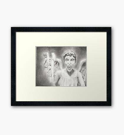 Don't Blink. Framed Print