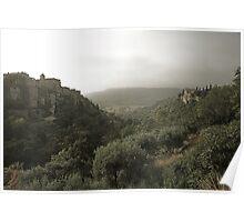 Summer storm clouds over Gordes, Provence Poster