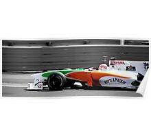 Force India F1 Silverstone Poster