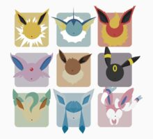 Eeveelutions Grid2 Kids Clothes