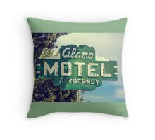 Alamo Hotel Throw Pillow