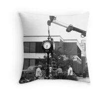 Setting the Clock Throw Pillow