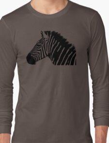 Zebra in black and white Long Sleeve T-Shirt