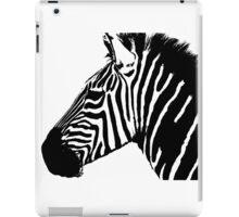 Zebra in black and white iPad Case/Skin