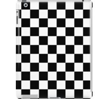 Black and White Check Checkered Flag Motorsports Race Day + Chess iPad Case/Skin