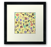 ABC Rumble Jumble on Yellow Framed Print