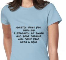 whistle while you swallow Womens Fitted T-Shirt