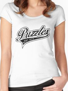 Puzzles HIMYM Black Women's Fitted Scoop T-Shirt