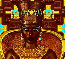 Black Egyptian princess in our modern digital art style by TK0920