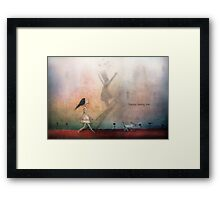 Happy being me Framed Print