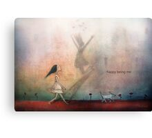 Happy being me Canvas Print