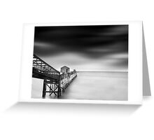 Loading Pier  Greeting Card