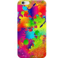 Splattered paint. Abstract background. iPhone Case/Skin