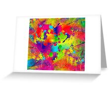 Splattered paint. Abstract background. Greeting Card