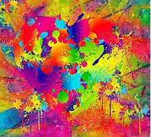 Splattered paint. Abstract background. Photographic Print