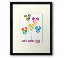 Retro Disney World Podcast Balloons Framed Print