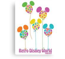 Retro Disney World Podcast Balloons Canvas Print