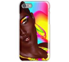 Beautiful Black Woman with colorful make up  iPhone Case/Skin